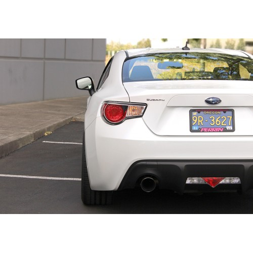 Perrin Performance Plastic License Plate Frame with White Letters